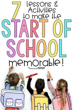Lessons and activities to make the start of school memorable for kids. Welcome a new class of students during back to school and during the first week with these gift ideas, classroom management tips, and ways to build community. #backtoschool #communitybuilding #socialemotionallearning #socialskills #classroommanagement School Classroom, Classroom Activities, Classroom Ideas, Classroom Routines, Classroom Organisation, Classroom Rules, Classroom Crafts, Free Activities, Classroom Design