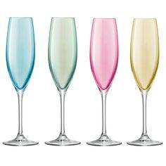 pastel champagne glasses