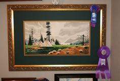 """This is a painting I did in watercolor. Overall size is 30"""" x 40"""". (no glass) $275. I saw a similar picture of this somewhere, I liked it so I painted it."""