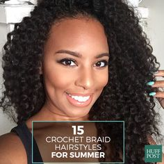 Considering crochet braids for the summertime? These beautiful women we discovered rocking the hairstyle on Twitter and Instagram are all the inspiration you'll need to book an appointment with your stylist.