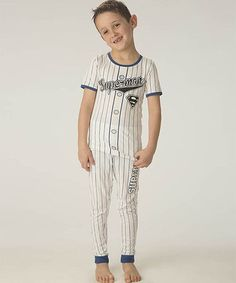 Look what I found on #zulily! Superman Baseball Pajama Set - Toddler & Boys by Superman #zulilyfinds