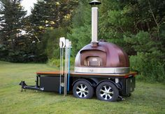 MWH- Motorized wood fired pizza oven trailer