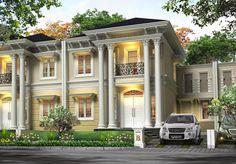 Desain rumah klasik modern 2 lantai terbaru 2016