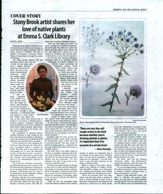 Our February Art Display - Native Plants of Long Island in Colored Pencil by Diane Boucher - featured in today's Times Beacon Record Newspapers!