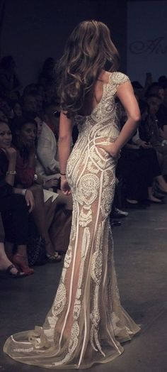 Stunning Lace Gown. LOVE http://www.pinterest.com/zeugma/boards/