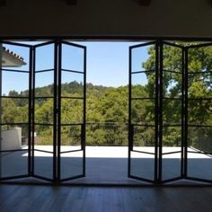 Custom Exterior Steel Bifold Doors | Euroline Steel Windows...