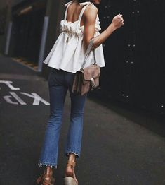 Beach Fun And Summer Looks 2018 Picture Description summer style Diy Outfits, Mode Outfits, Casual Outfits, Fashion Outfits, Womens Fashion, Fashion Tips, Fashion Trends, Jeans Fashion, Ladies Fashion