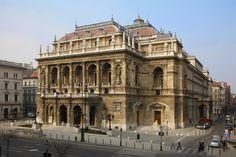 Hungarian State Opera House, Budapest. Neo-Renaissance style.