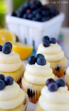 Lemon Cream Blueberry Cupcakes, these are my favorite!