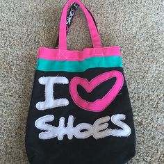 Cloth hand bag New never used and super cute very durable!! Express you love for shoes everyday where ever you go!! Bags Shoulder Bags