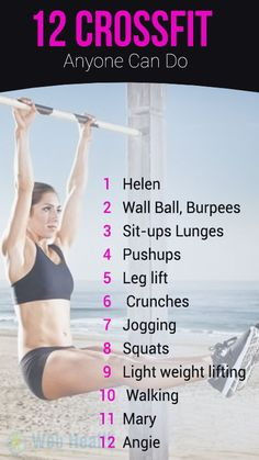 Here are 12 Cross Fit Workouts anyone can do. #crossfit