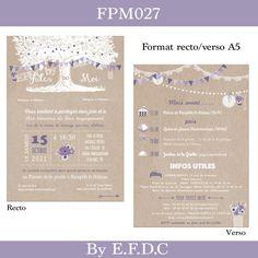 EFDC BY SO'SCRAP DESIGNS Carton Invitation, Invitations, Save The Date, Dream Wedding, Scrap, Dating, Blog, Catalogue, Wood Themed Wedding