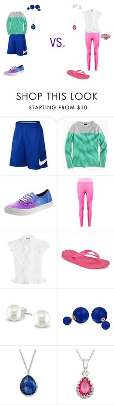 """""""Girly Girl vs Tomboy: DGS Version"""" by sierra-ivy on Polyvore featuring NIKE, J.Crew, Vans, Boohoo, Alexander McQueen, Havaianas, Bling Jewelry, Ippolita and Shourouk"""