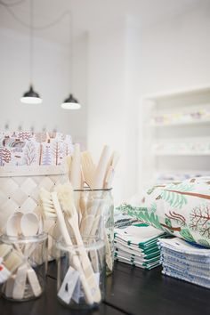 Textile company Kauniste has opened a new store in downtown Helsinki. Light coloured, beautiful store sells Kauniste fabrics and house. Helsinki, Textile Company, Shop Fittings, Shop Around, Nordic Design, Deco Design, Best Interior, Visual Merchandising, Light Colors