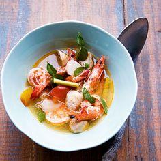 Pikante Suppe mit Garnelen (Thom Yam Gung)