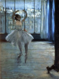 https://flic.kr/p/y2FmyU | Edgar Degas - Dancer in front of a Window, Dancer at the Photographer's Studio [c.1874-77] | [Pushkin Museum of Fine Arts, Moscow - Oil on canvas]