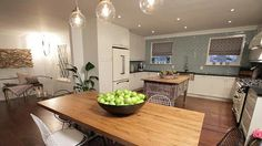 Property Brothers- Megan & Greg. Rustic and modern together with retro appliances.