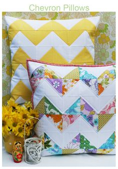 Chevron pillows - love