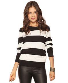 Wide Stripe Sweater - StyleSays