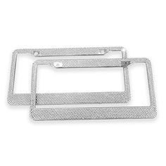 Diamond License Plate Frame, Ohuhu 2 Pack Bling Rhinestone Car License Plate Frames Holders with 7 Shiny Sparkling Crystal Rows, Metal Chrome Auto License Plate Cover with Mounting Screws, Silver - NOTE: Please check the 6th product image for frame size.Please measure your license plate to check whether the frame bottom will obscure your plate bottom if your plate is for the following states: Oregon, New York, New Mexico, New Jersey, New Hampshise, Georgia, Wisconsin, Colorado, Kentucky…