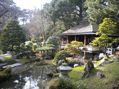 The tea house at The Japanese Tea Garden, Golden Gate Park, San Francisco.