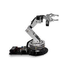 Compare Price Industrial Robot 550 Mechanical Arm Alloy Manipulator 6 Degree Robot arm Rack with Servos + 1 Alloy Gripper Robotics Engineering, Robotics Projects, School Of Engineering, Mechanical Engineering, Robotics Companies, Robotics Competition, Real Robots, Mechanical Arm, Robot Parts