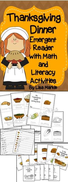 This Thanksgiving foods themed set includes a repetitive emergent reader, a class graphing activity, and a writing practice mini-book. Read the emergent reader with your class, graph their favorite foods from the story, and then have them independently practice writing the food words! Color and black and white versions both included!