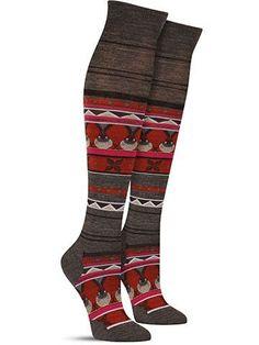 Charley Harper Seal Knee High Wool Socks   Womens
