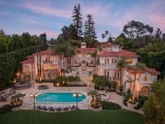 This Mediterranean style mega mansion is located at 277 St. Pierre Road in Bel Air, Los Angeles, California and is situated on acres of land. Bel Air Mansion, Dream Mansion, Beach Mansion, Mega Mansions, Mansions Homes, Luxury Mansions, Cool Mansions, Mansions For Sale, Bel Air California