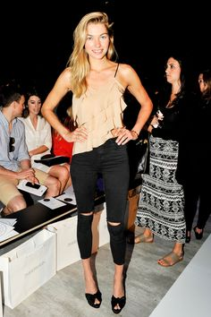 Jessica Hart - Front Row at Zimmermann Spring 2015 #nyfw