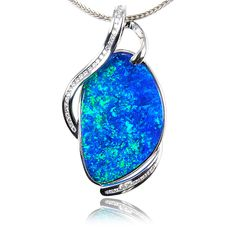 Opal pendant- opals are beautiful and capture lots of different colors. Each opal is unique!