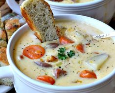 Canadian Cheese Soup is made with ham, red potatoes, carrots, onions, leeks and a delicious cheesy cream sauce. This comfort food really sticks to the ribs. Canadian Cheese, Canadian Dishes, Canadian Food, Cheesy Potato Soup, Cheesy Potatoes, Soup Recipes, Healthy Recipes, Cooking Beets, Fall Dinner Recipes