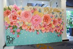 Painel com rosas de papel!