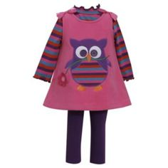 Bonnie Jean Fleece Owl Jumper & Leggings Set - Girls 7-16