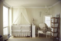 OMG, @Maggie Fleming....      Soft, Smoothing and Beautiful  Take a look at the gorgeous details in this classic room.  See the nursery on On to Baby