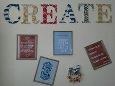 Craft room decor