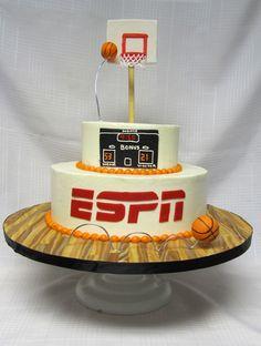 Basketball Cake...put basketball shape on top
