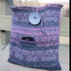 Recycled sweater iPad case:  find a 100% wool sweater (cheap at thrift shops), machine wash in hottest water to felt (google 'how to felt wool' for instructions), cut/sew/line/embellish as desired.