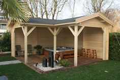 Gazebos & Verandas from Forest Products - Custom Log Cabins and Summerhouses in Aberdeenshire, Scotland, Bertsch Holzbau. Logcabins.lv and Lugarde Main Dealer