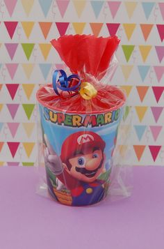 Party Favors for Kids-Super Mario Themed Favors- Pre-Filled Party Favors-Goodie . Party Favors for Super Mario Birthday, Mario Birthday Party, Super Mario Party, Kids Birthday Themes, Party Themes For Boys, 6th Birthday Parties, Super Mario Bros, Happy Birthday, Fete Vincent