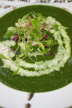 Spinach and Sorrel Soup, The Sonnet | Eggs On The Roof  http://eggsontheroof.com/spinach-and-sorrel-soup-the-sonnet/
