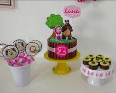 Baby Birthday Cakes, Bear Birthday, Masha Cake, Marsha And The Bear, Bear Party, Bear Cakes, Marshmallow, Party Themes, Cake Decorating