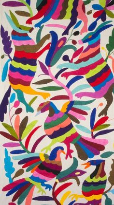 table runner, Otomi fabric, Mexican Textile, hand embroidered, 100% cotton