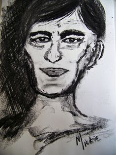A Pretty Talent Blog: Step by Step: Drawing Portraits in Charcoal
