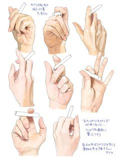 Cigarette Hand Reference Drawing Illustration by lana Drawing Skills, Drawing Poses, Drawing Techniques, Drawing Sketches, Drawing Tips, Sketching, Drawing Artist, Drawing Ideas, Hand Drawing Reference