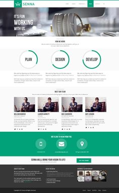 Senna - Responsive Portfolio/ Blog WordPress Theme