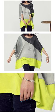 S10XL Soft Tshirt tops casual loose dress cotton by FashionOrgy, $64.75