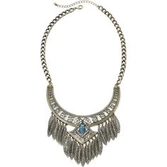 Mixit™ Antiqued Gold-Tone Leaf Fringe Bohemian Necklace (365.120 IDR) ❤ liked on Polyvore featuring jewelry, necklaces, collar necklace, leaf jewelry, long necklaces, gold tone necklace and boho necklace