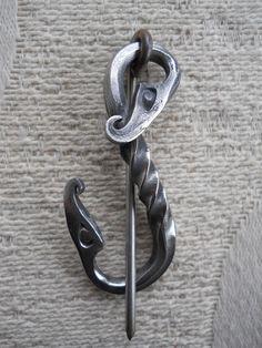 Viking Fibula Urness Dragons Shawl Pin by Tuatha on Etsy, $47.00