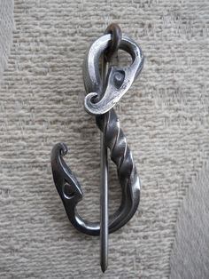 Viking Fibula Urness Dragons Shawl Pin by Tuatha on Etsy, $47.00